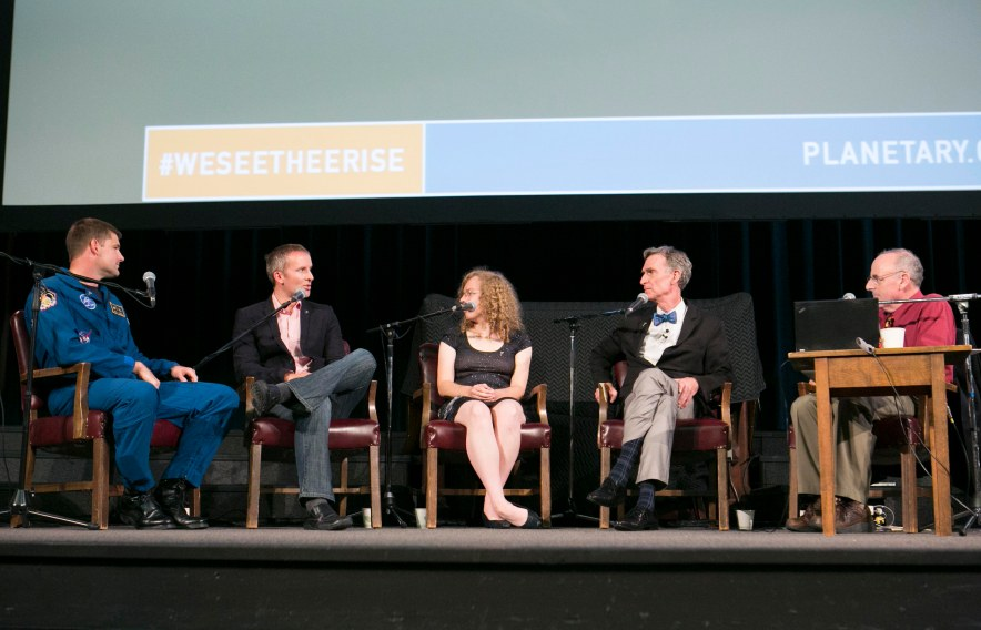 "The ""We See Thee Rise"" panel hosted by the Planetary Society. Credit: The Planetary Society"